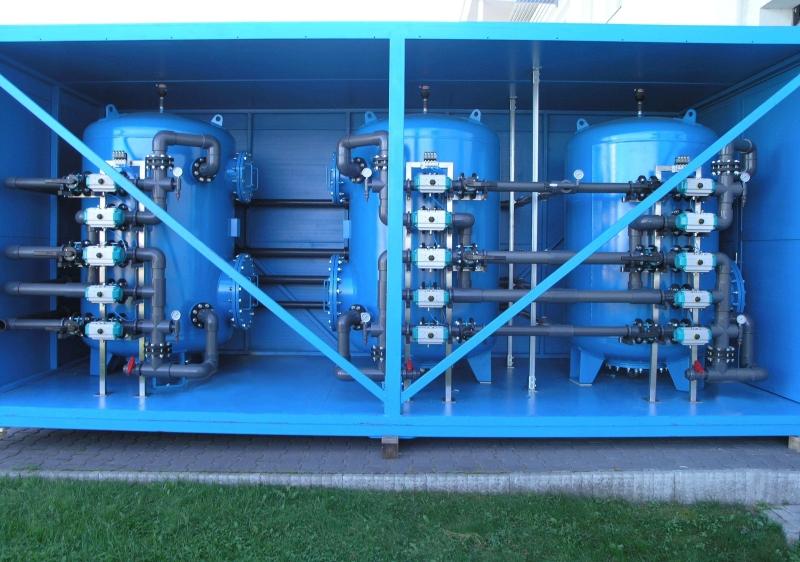 تصفیه آب صنعتی در داخل کانتینر